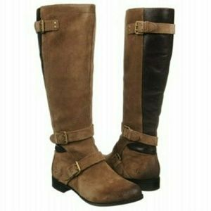 UGG Cydnee Fawn 1001876 leather riding boots 9